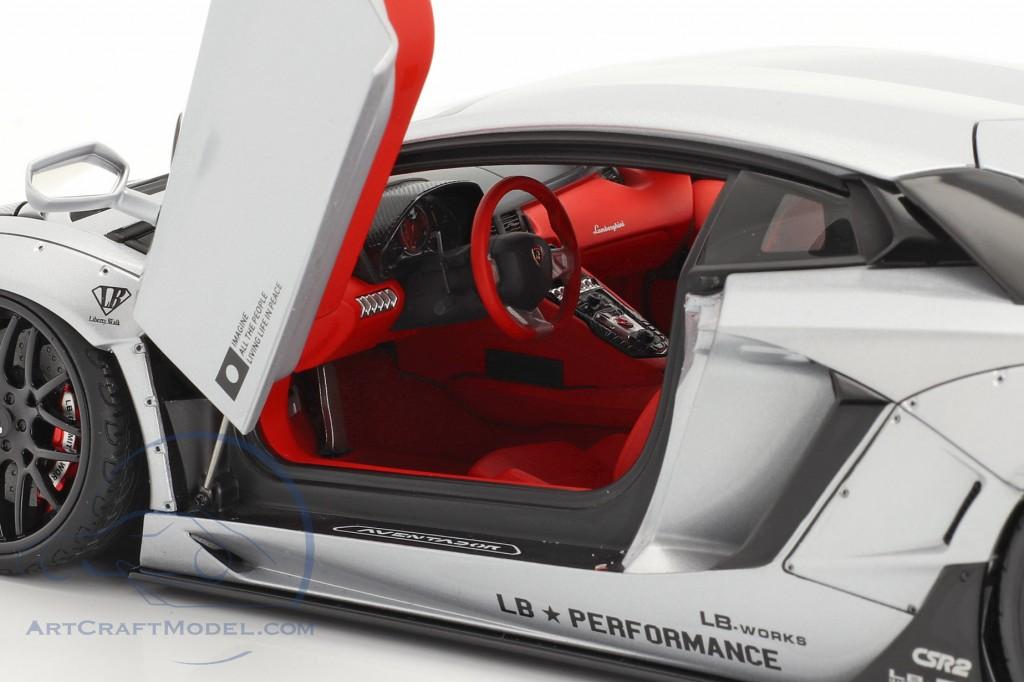 Lamborghini Aventador LB-Works year 2018 mat silver metallic