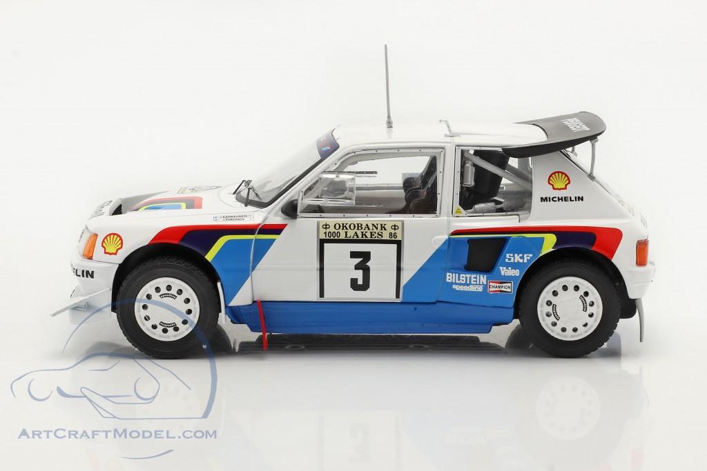 Peugeot 205 T16 E2 #3 2nd Rally 1000 Lakes 1986 Kankkunen, Piironen