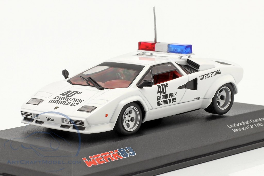 Lamborghini Countach Safety Car Monaco GP formula 1 1982