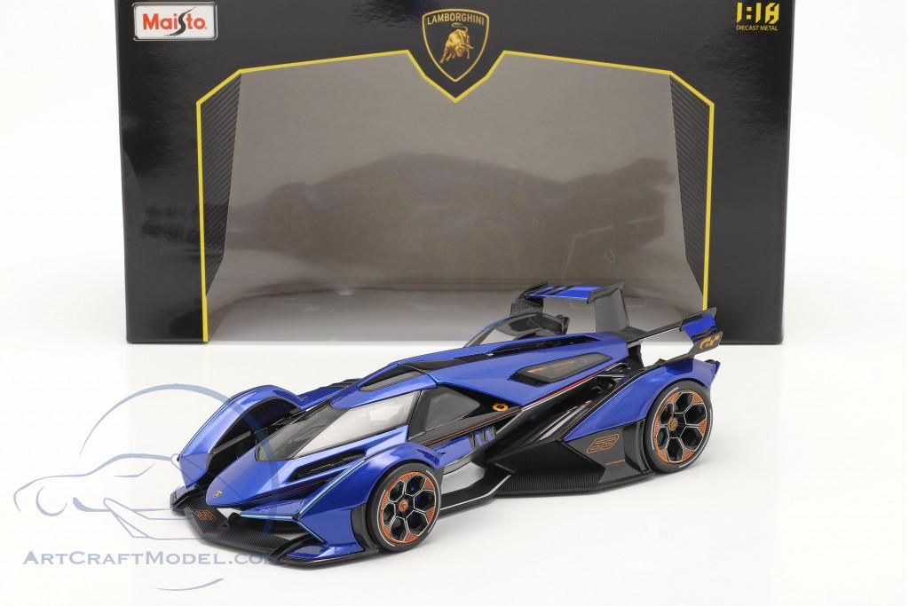 Lamborghini V12 Vision GT 2020 blue / black