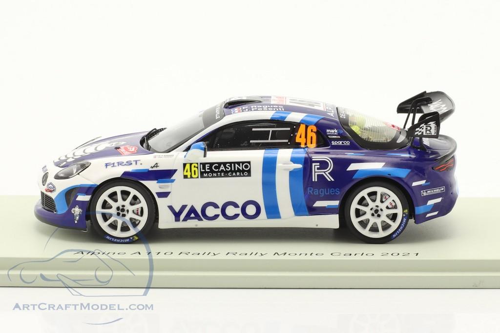 Alpine A110 Rally RGT #46 Rallye Monte Carlo 2021 Ragues, Pesenti