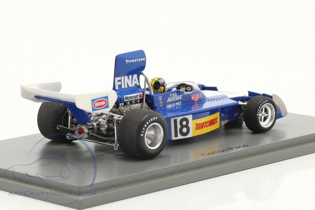 Carlos Pace Surtees TS16 #18 4th Brazilian GP formula 1 1974