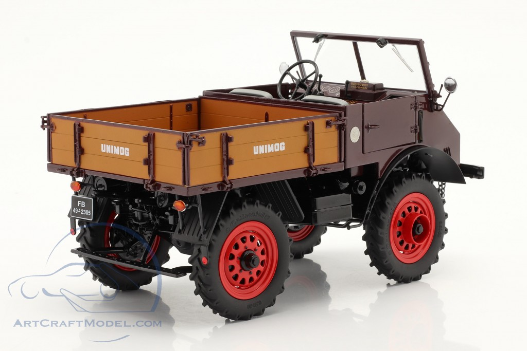 Mercedes-Benz Unimog 401 with softtop year 1953-56 red