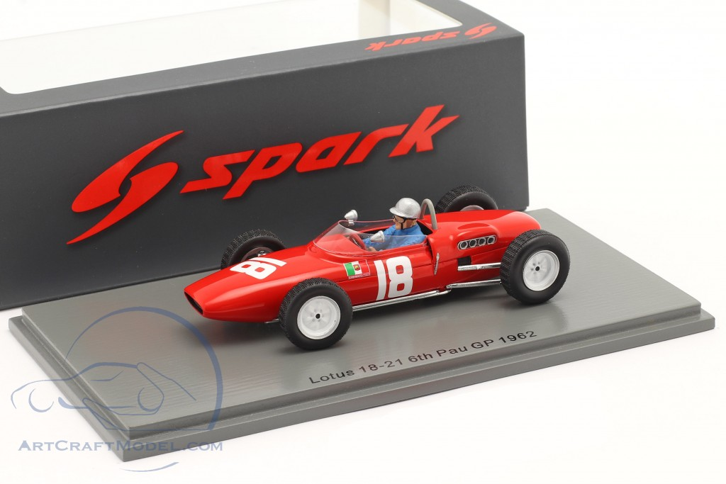 Nino Vaccarella Lotus 18-21 #18 6th GP de Pau 1962
