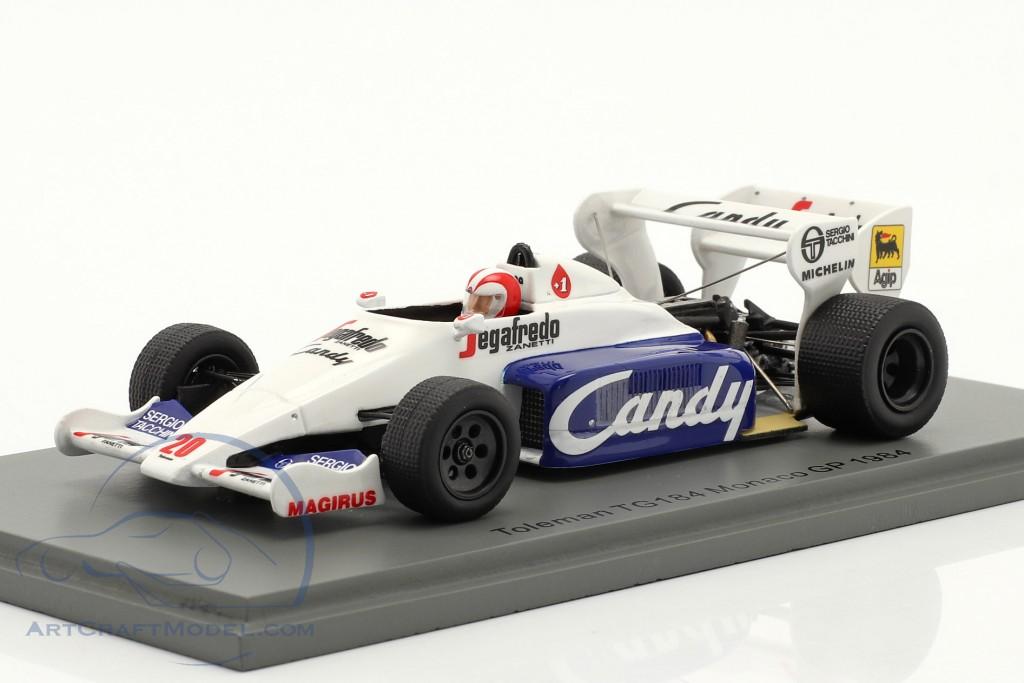 Johnny Cecotto Toleman TG184 #20 Monaco GP formula 1 1984