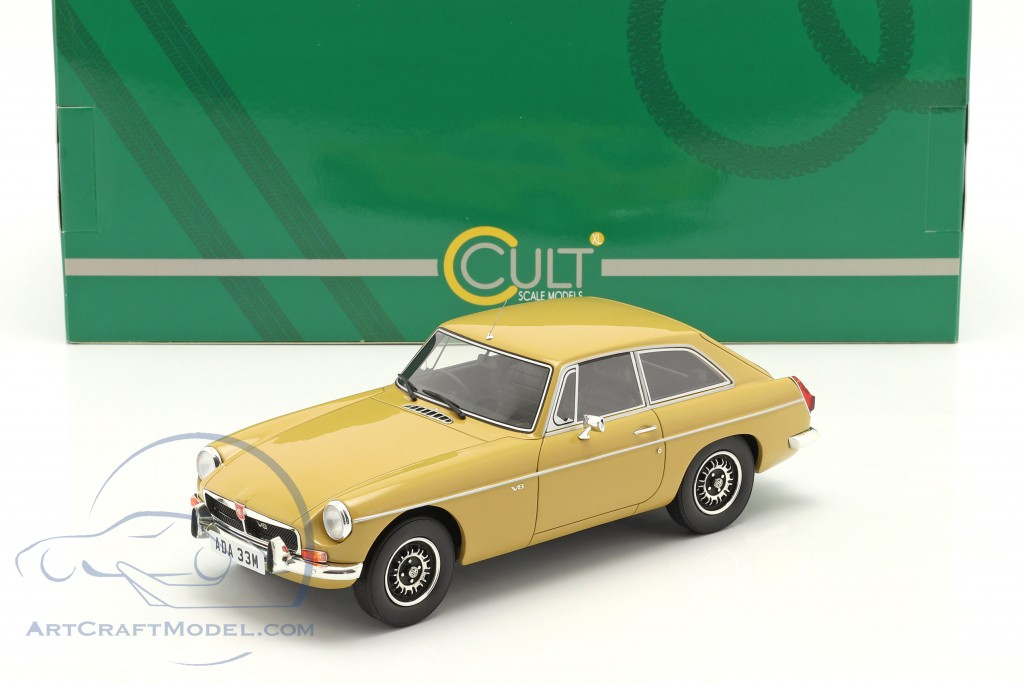 MGB GT V8 year 1974 harvest gold  Cult Scale