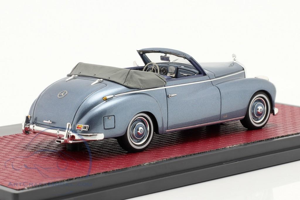 Mercedes-Benz 220 A (W187) Wendler Cabriolet Open Top 1952 blue
