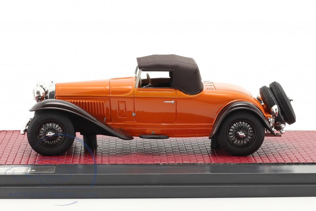 Bugatti Type 46 Convertible De Villars Closed Top 1930 orange / brown