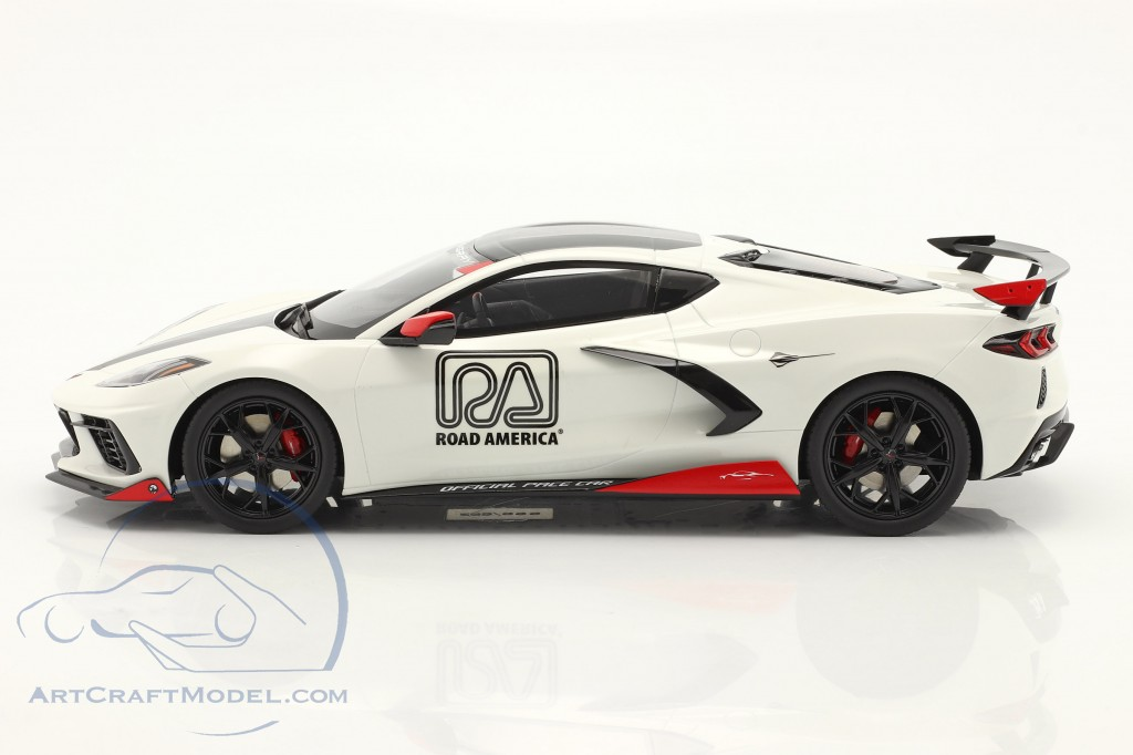 Chevrolet Corvette C8 Pace Car IMSA Road America 2020 white  GT-Spirit