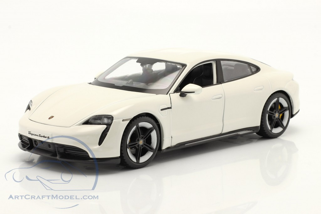 Porsche Taycan Turbo S white  Burago