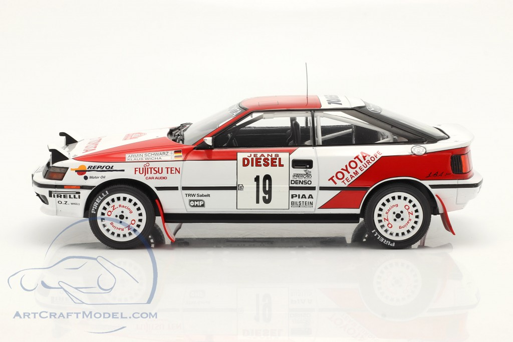 Toyota Celica GT-4 (ST165) #19 Rallye San Remo 1990 Schwarz, Wicha