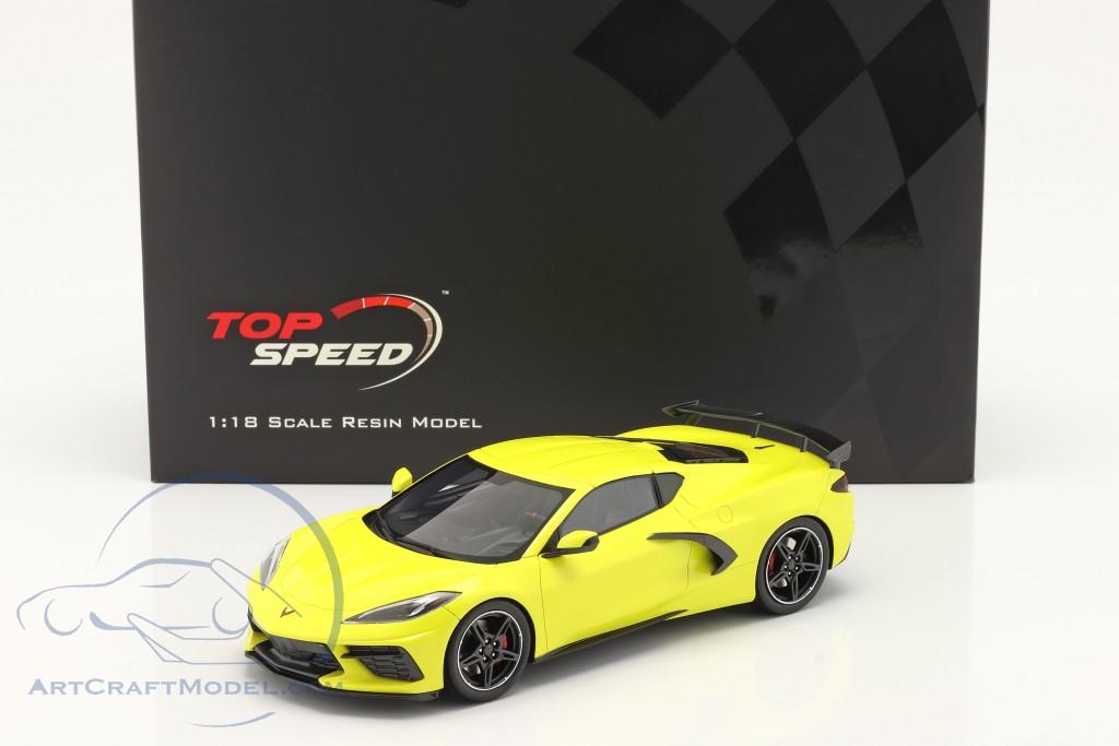 Chevrolet Corvette C8 Stingray year 2020 accelerate yellow metallic