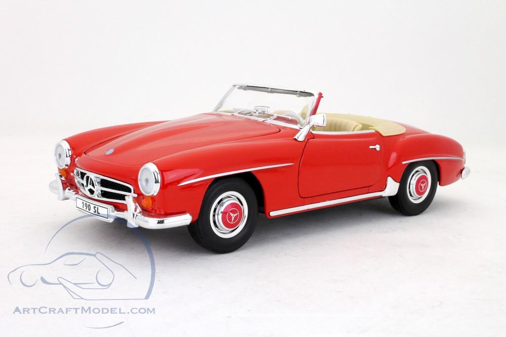 Mercedes benz 190sl cabriolet 1955 red 19841w ean for 1955 mercedes benz 190sl